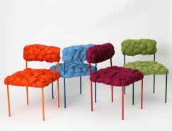 Humberto Damata:独特的彩色条纹编织椅
