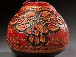 Marilyn Sunderland创意葫芦雕刻作品