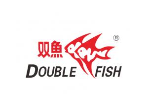 乒乓器材生产品牌:双鱼标志矢量图