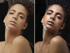 Photoshop為室內人像加上細膩質感的健康膚