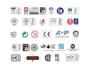 各类认证标志矢量图