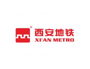 西安地铁logo标志矢量图