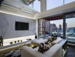 几何和图形元素运用:时尚的公寓装修设计