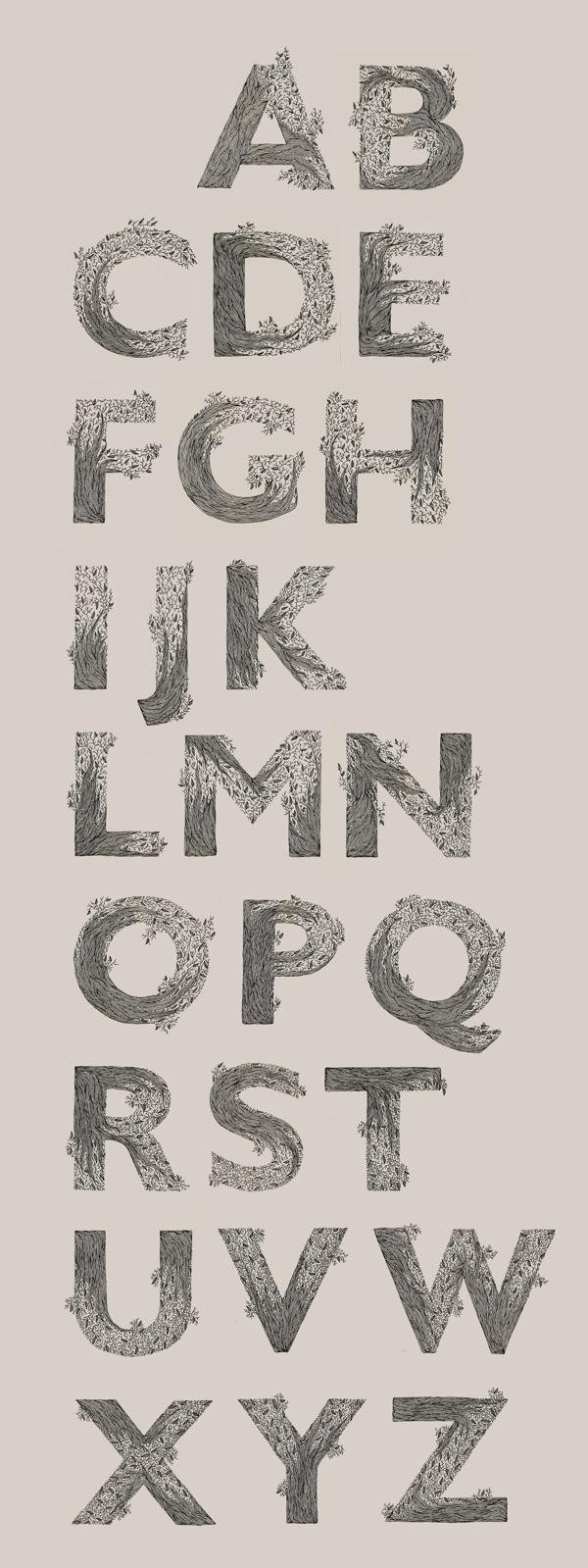 55个英文字母创意字体设计欣赏(2)
