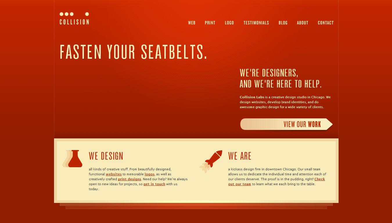 饱和的配色方案:国外现代网页设计欣赏