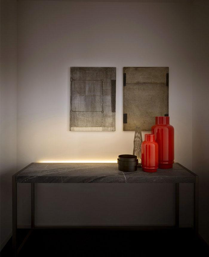 时尚的现代公寓设计:LED照明与家具的融合