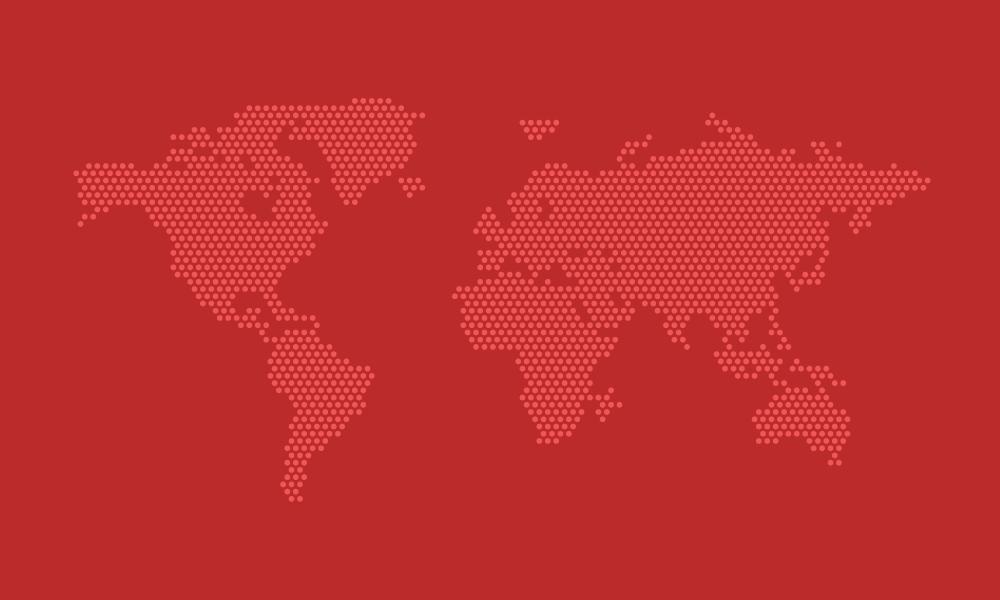 点状世界地图和地球矢量素材