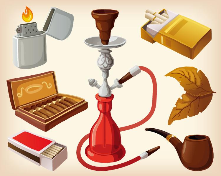 香烟主题元素矢量素材