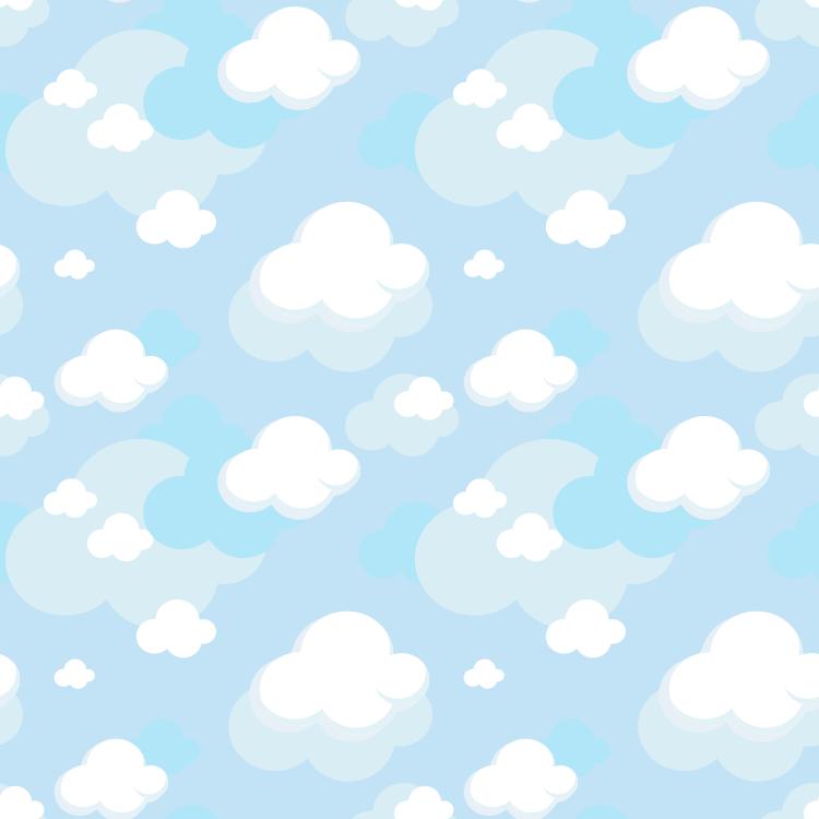 ai格式,云彩,白云,蓝天,无缝背景,矢量图
