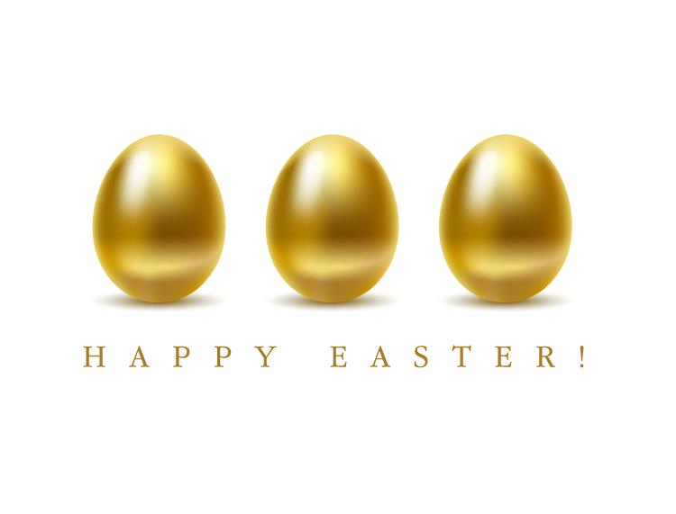 复活节金蛋矢量素材