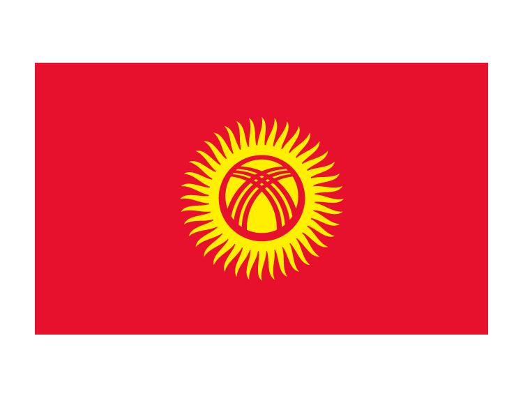 吉尔吉斯斯坦国旗矢量图