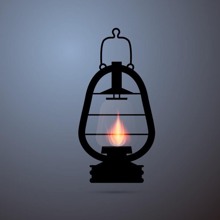 eps格式,老式煤油灯,马灯,矢量图