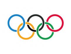 奧林匹克五環會徽標志矢量圖