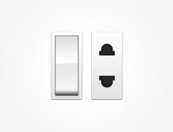 开关�和插座PSD素材