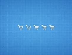 購物車圖標PSD素材