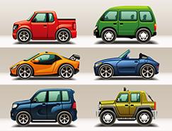 可爱卡通汽车矢量素材(2)
