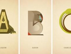 英文字母变身动物:Marcus Reed动物字体设计