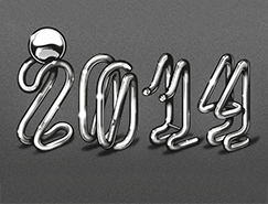 Baimu漂亮的金属管道字体设计