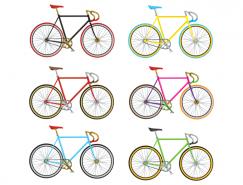 公路自行车矢量素材