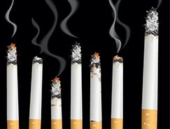 燃烧的香烟矢量素材