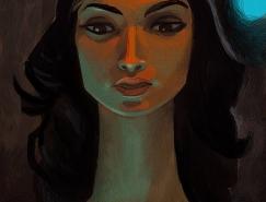法国Caroline H.肖像插画欣赏