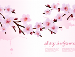 粉色花朵背景矢量素材