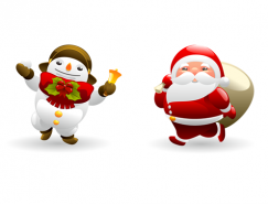 雪人和圣誕老人PNG圖標?256x256
