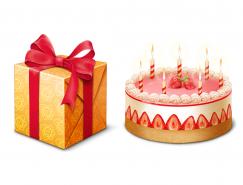 生日蛋糕和礼盒PNG图标?512x512