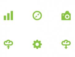 绿色简洁常用PNG图标?32x32