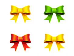 色彩丰富的蝴蝶结PNG图标?128x128