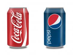 可口可乐和百事可乐罐装饮料PNG图标