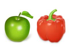 瓜果蔬菜PNG图标 256x256