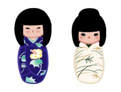 日本和服娃娃PNG图标256x256