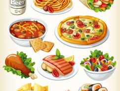西式快餐食品矢量素材(1)