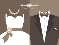结婚礼服矢量素材