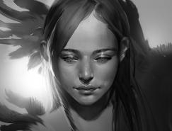 韩国Kyrie漂亮的肖像插画欣赏
