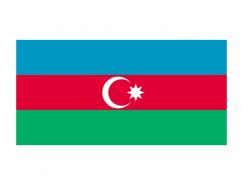 阿塞拜疆國旗矢量圖