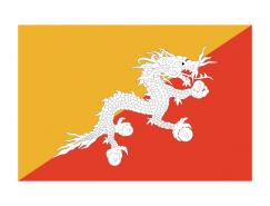 不丹國旗矢量圖