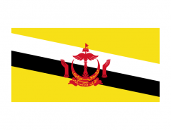 文萊國旗矢量圖