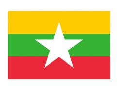 緬甸國旗矢量圖