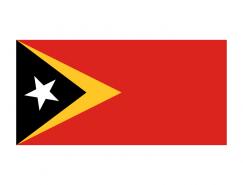 東帝汶國旗矢量圖