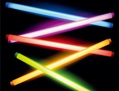 彩色荧光棒矢量素材