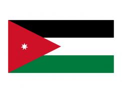約旦國旗矢量圖