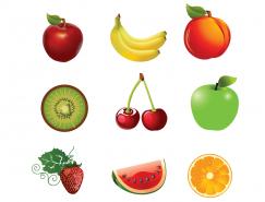 9种水果矢量素材