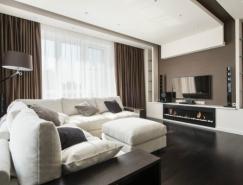 莫斯科简约大气的灰褐色调公寓装修澳门金沙网址