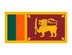 斯裏蘭卡國旗矢量圖