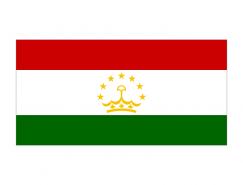 塔吉克斯坦國旗矢量圖