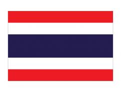泰國國旗矢量圖