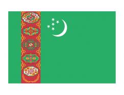 土庫曼斯坦國旗矢量圖