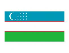 烏茲別克斯坦國旗矢量圖